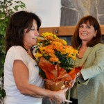 Co-President Carolyn Lott presenting thank you to Sonora High Mentor, Carol Travis