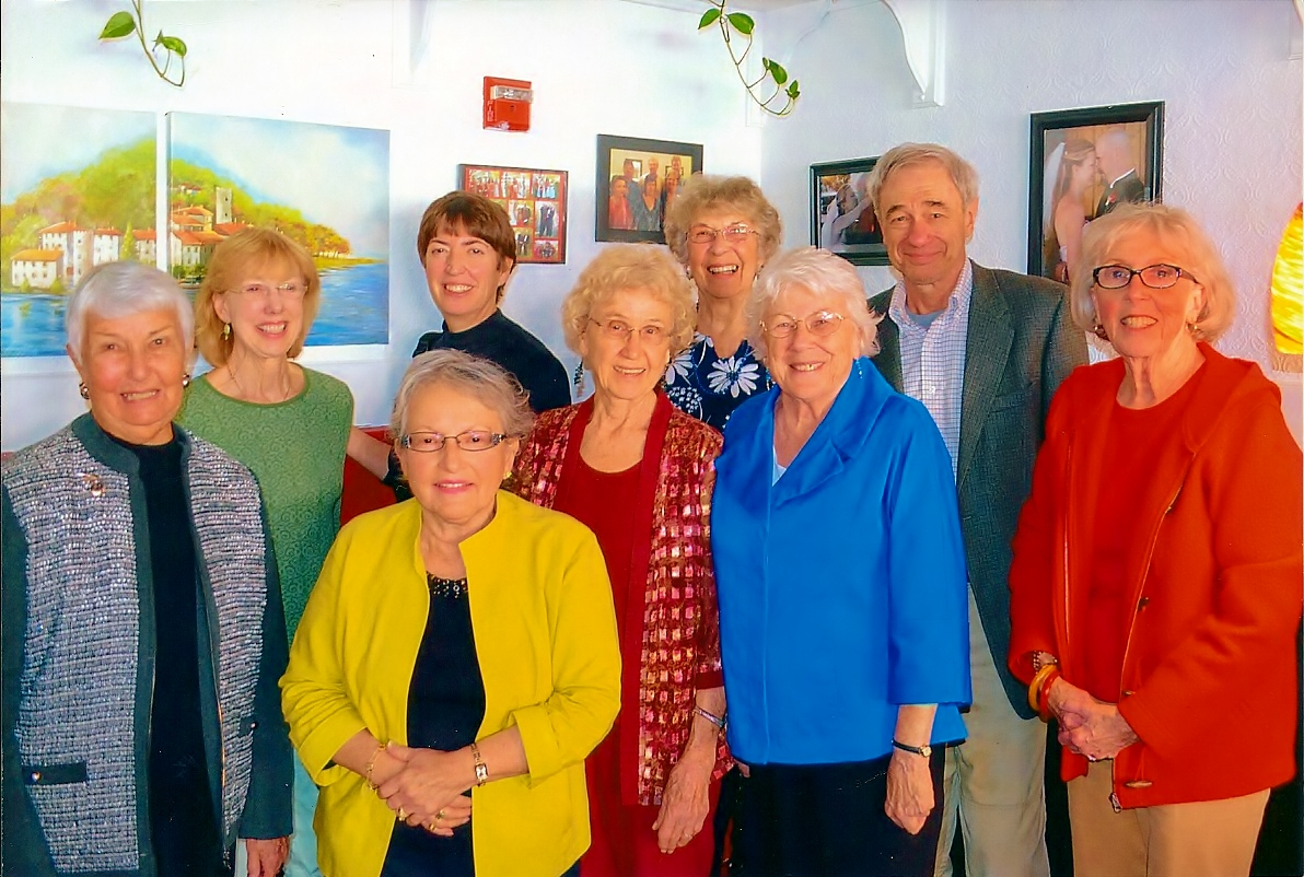 Gourmet II - front row - Phyllis Reichle, Elvia Torres, Mary Straws, Laulette Ginn, Pat Dean, Rear - Sunny Enos, Denise Galvin, Louise Giersh, Brian Galvin.